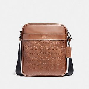 COACH MEN CHARLES FLIGHT BAG IN SIGNATURE LEATHER